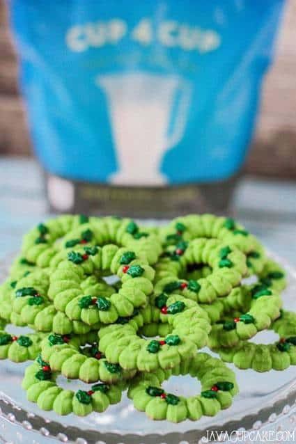 Gluten-free Spritz Cookies | JavaCupcake.com