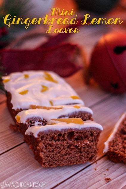 Mini Gingerbread Lemon Loaves | JavaCupcake.com