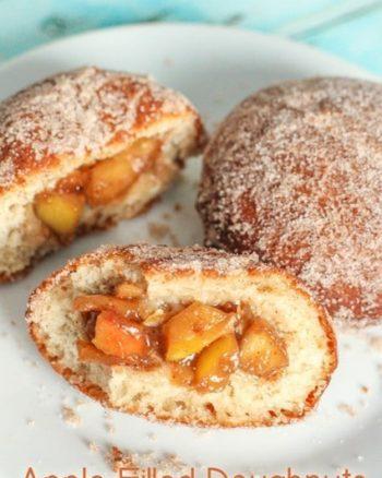 Apple Filled Doughnuts | JavaCupcake.com