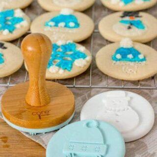 Stamped Winter Sugar Cookies