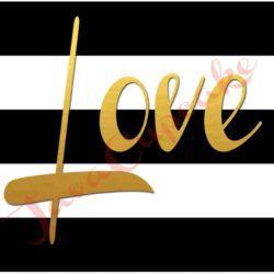 LOVE Digital Smartphone Wallpaper | JavaCupcake.com #gold #blackandwhite #stripes