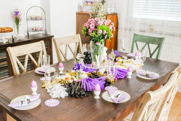 Creating a Glam Easter Brunch and Tablescape on a Budget