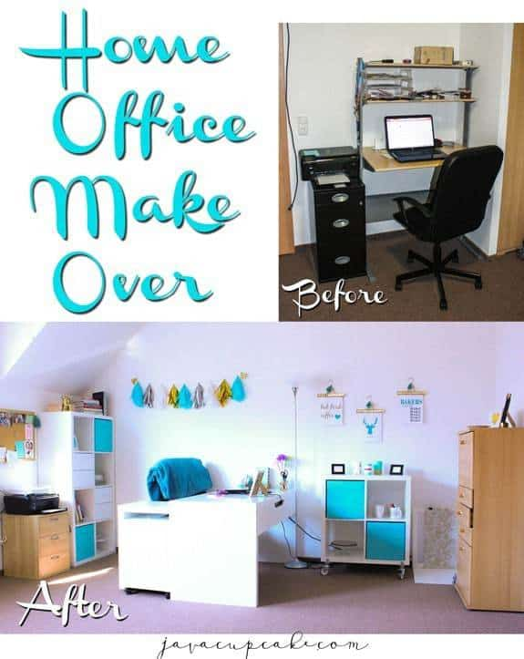 Home Office Makeover | JavaCupcake.com