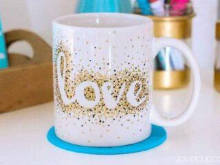 DIY Stipple Mugs | JavaCupcake.com