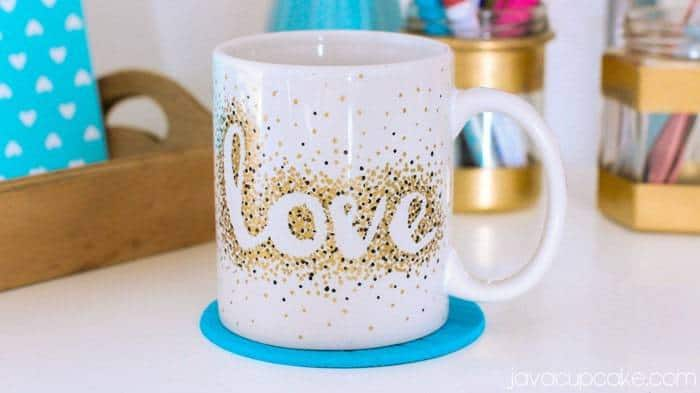 DIY Stipple Mugs | JavaCupcake.com