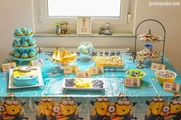 Minion Birthday Party JavaCupcake