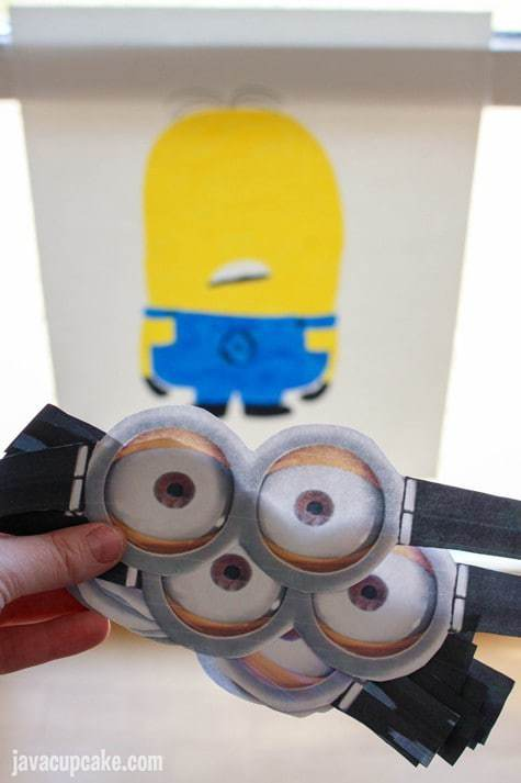 Minion Birthday Party - Pin the Goggles on the Minion Game | JavaCupcake.com