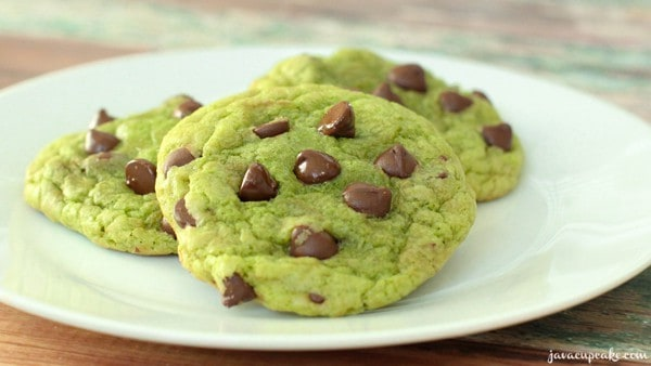 Mint Chocolate Chip Cookies - The JavaCupcake Blog