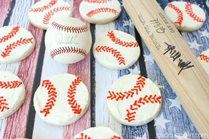 Easy Buttercream Baseball Cookies - A step-by-step tutorial! | JavaCupcake.com
