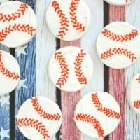 Easy Buttercream Baseball Cookies