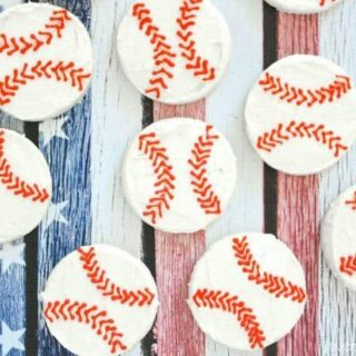 Easy Buttercream Baseball Cookies