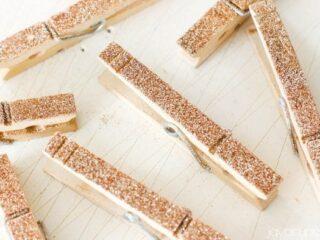 DIY Glitter Clothespins - Tutorial & Video | JavaCupcake.com