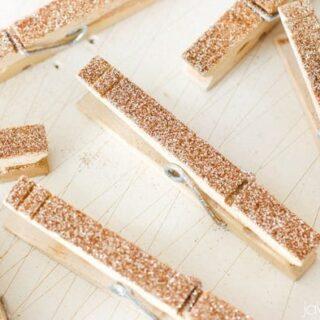 DIY Glitter Clothespins