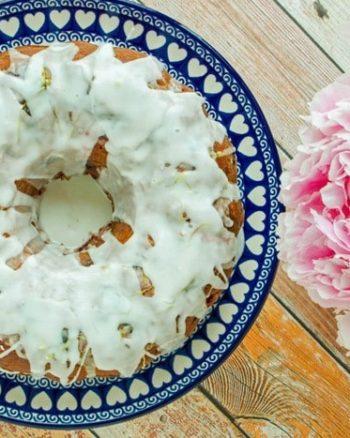 Rhubarb Cherry Bundt Cake | JavaCupcake.com