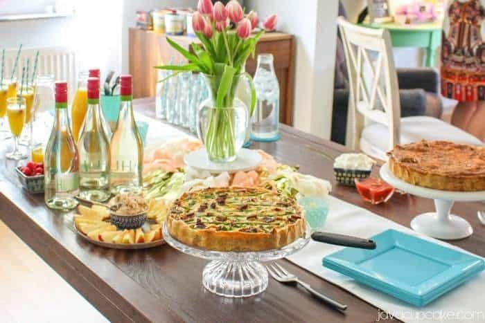 Asparagus Bacon Quiche | JavaCupcake.com