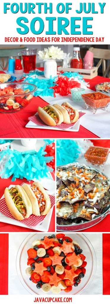 Fourth of July Soiree: Decor & Food Ideas for Independence Day | JavaCupcake.com