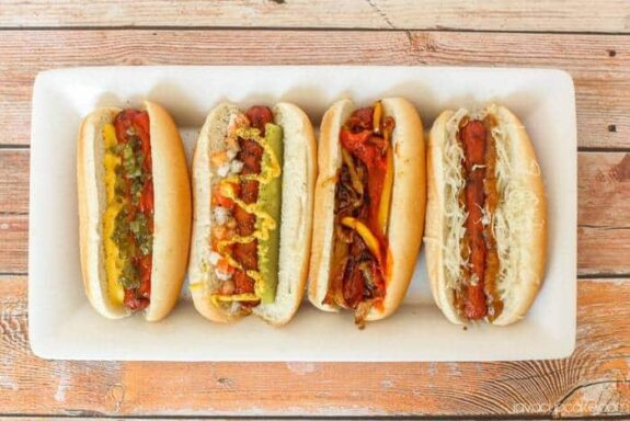 Kick Off Summer with a Hot Dog BBQ | JavaCupcake.com #greatergrilling #HebrewNational