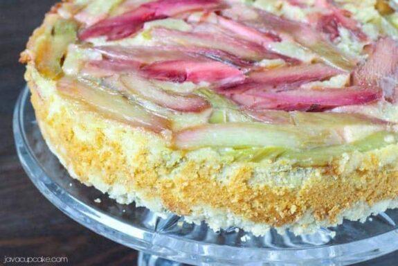 Rhubarb Upside Down Cake | JavaCupcake.com