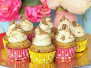 Chocolate Chip Banana Bread Cupcakes | JavaCupcake.com