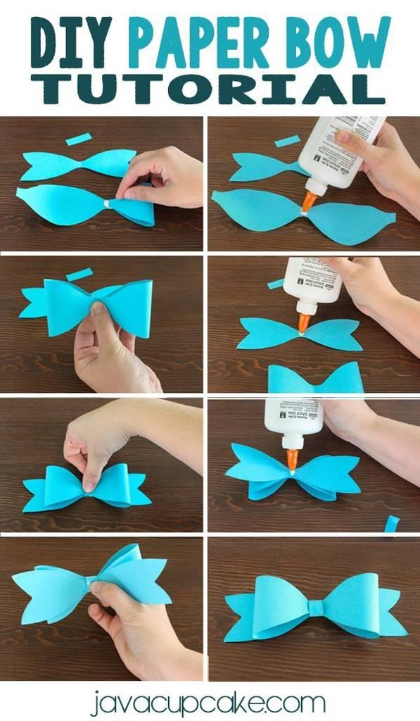 DIY Paper Bow Tutorial | JavaCupcake.com
