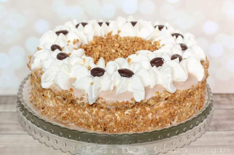 White Chocolate Espresso Ice Cream Cake   JavaCupcake.com