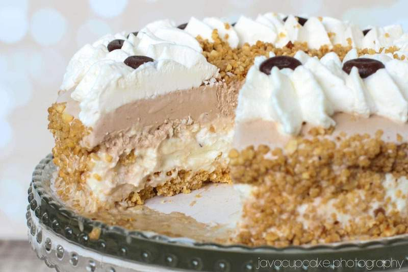 White Chocolate Espresso Ice Cream Cake | JavaCupcake.com