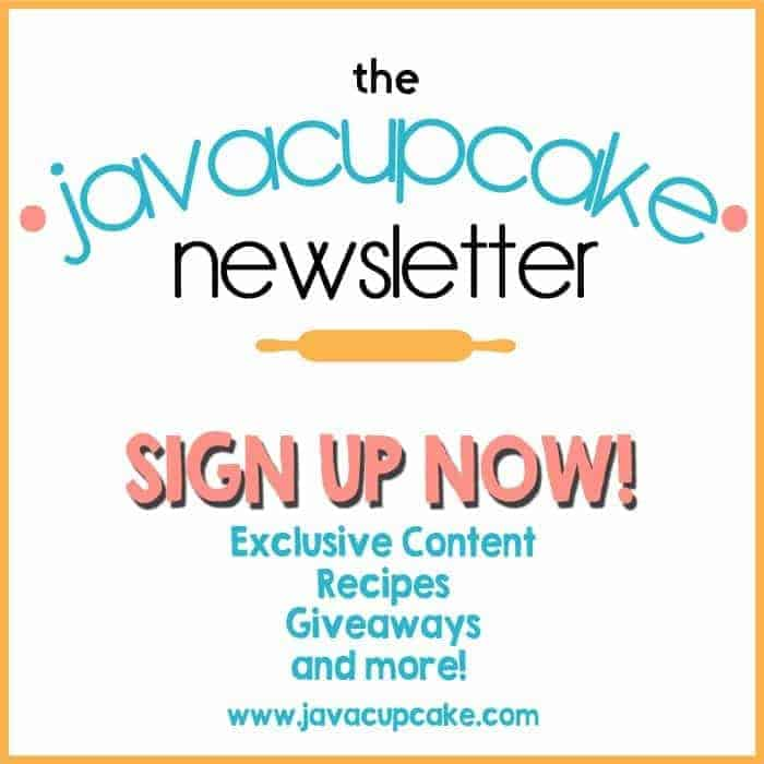 Sign up now for the JavaCupcake.com Newsletter!