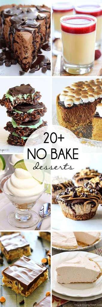 20+ No-Bake Desserts | JavaCupcake.com