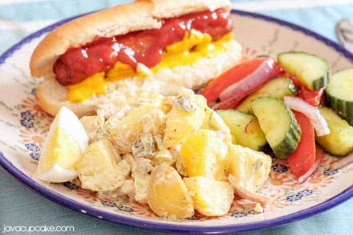 Bavarian Potato Salad - Summer Sides for your Next BBQ   JavaCupcake.com