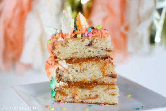 Roasted Apricot and Peach Cake   JavaCupcake.com