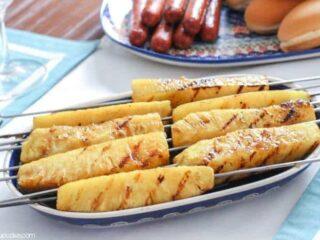 Grilled & Glazed Pineapple | JavaCupcake.com