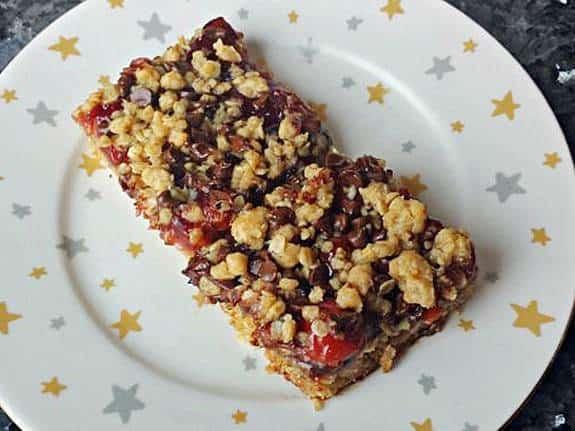 Oatmeal Cherry Chocolate Bars