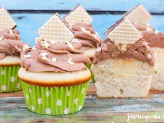 White Chocolate Nutella Cupcakes | JavaCupcake.com