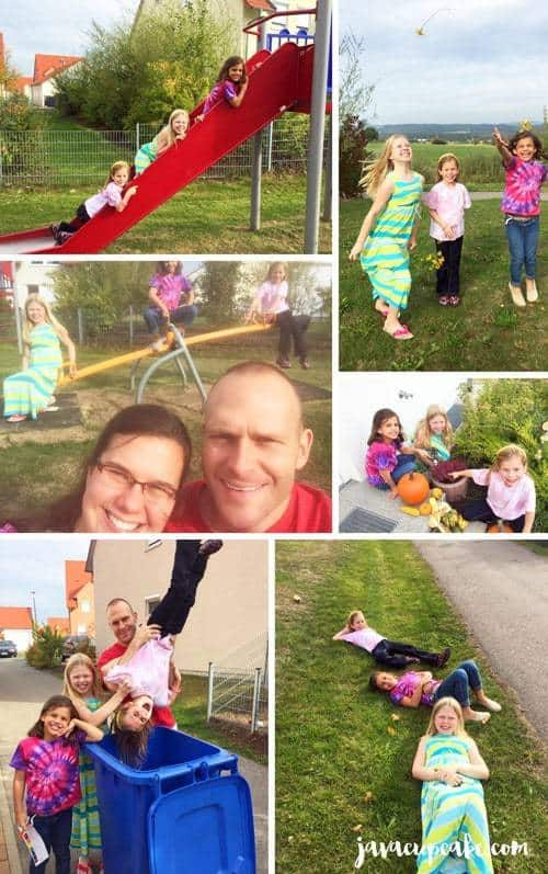 """Once they found the item, they were to take a """"selfie"""" or a family photo with the kids or parents with that item. Once each family was done, they met back at the party for a prize!"""