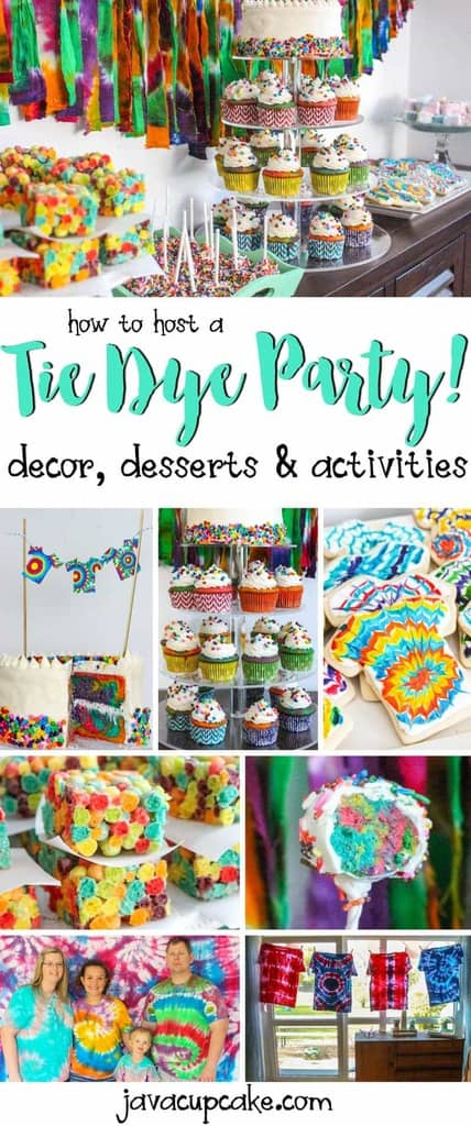 How to Host a Tie Dye Party! Decor, desserts and game ideas... all without actually Tie Dying! #TieDyeTuesday - Colors Scavenger Hunt | JavaCupcake.com