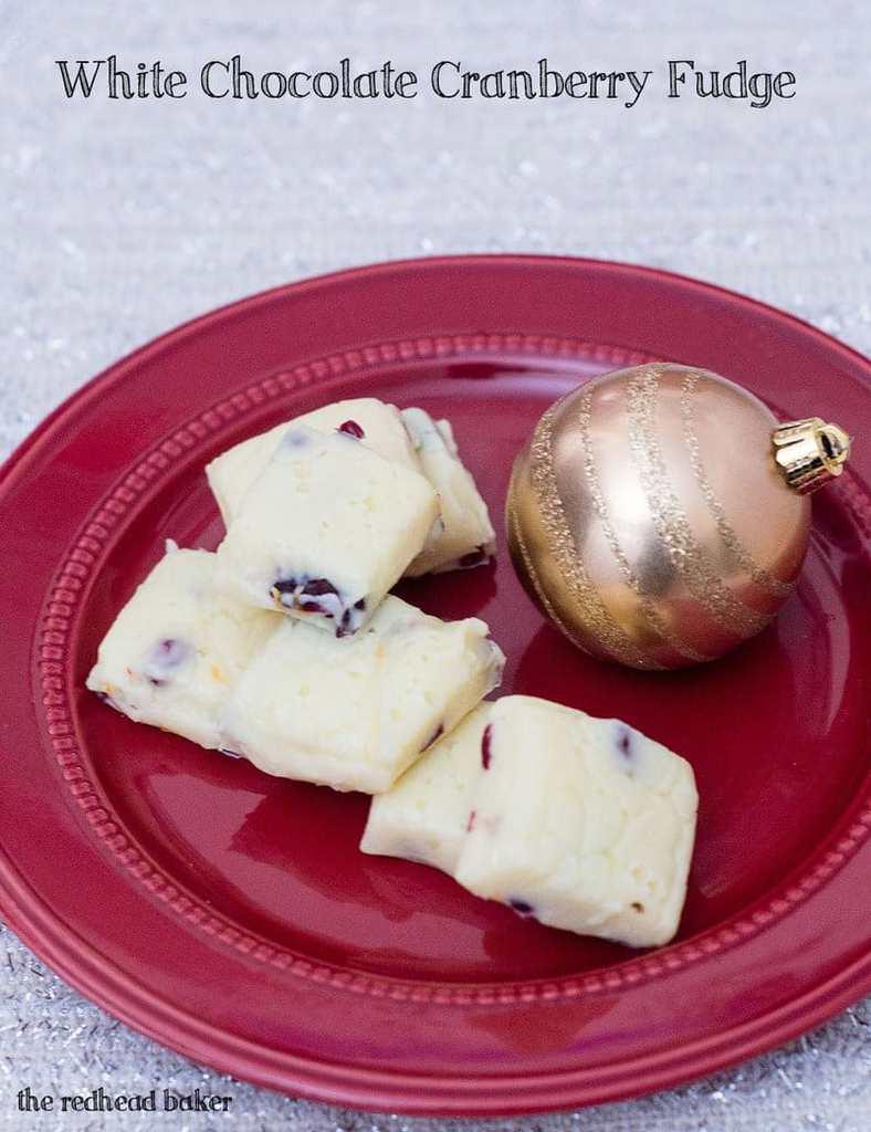 White Chocolate Cranberry Fudge - JavaCupcake