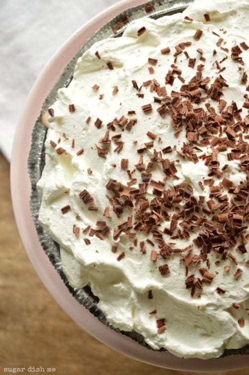No Bake Mocha Latte Pie Recipe