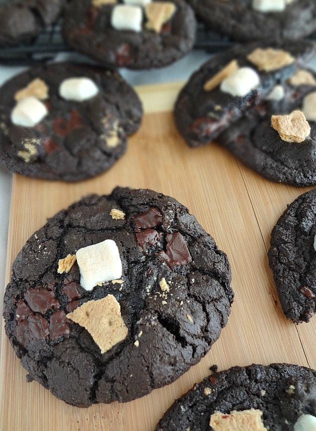 Chocolate S'mores Cookies by The Cooking Actress for JavaCupcake.com