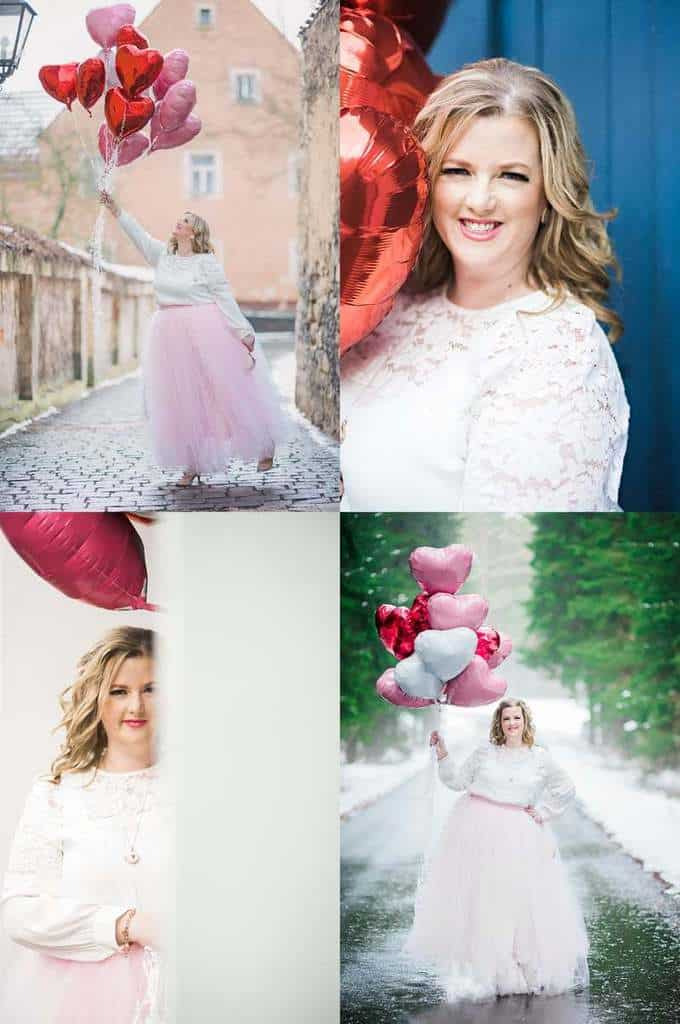 What to Wear on Valentine's Day - Outfit ideas for the Plus Size Woman in Love! Photos by Bear Moose & Fox Photography for JavaCupcake.com
