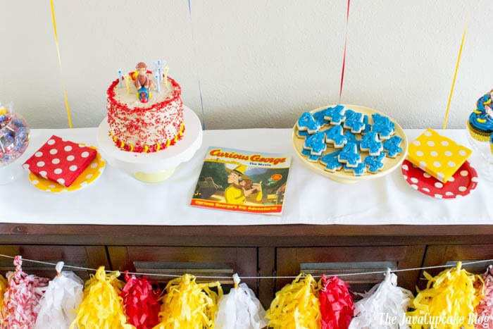 Curious George Party - Decorations, desserts, and more! | The JavaCupcake Blog https://javacupcake.com