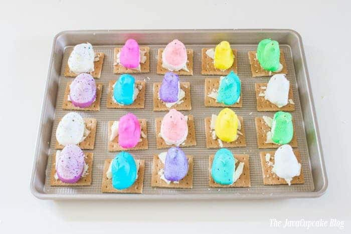 Peeps White Chocolate S'mores | The JavaCupcake Blog http://javacupcake.com