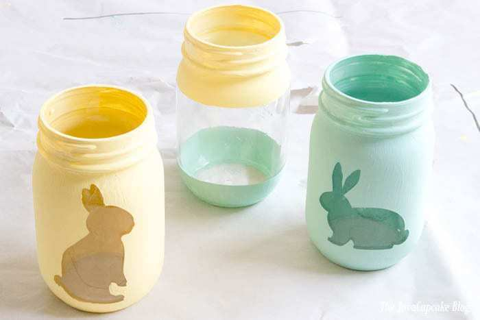 Spring Painted Candy Jars | The JavaCupcake Blog https://javacupcake.com