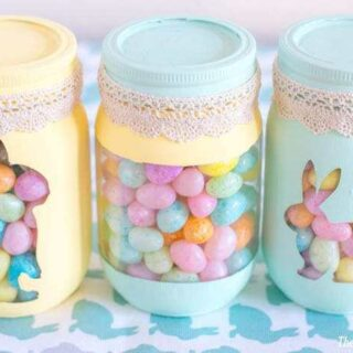 Spring Painted Candy Jars