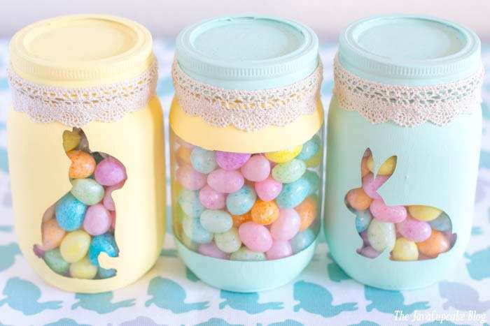 Spring Painted Candy Jars | The JavaCupcake Blog https://javacupcake.com