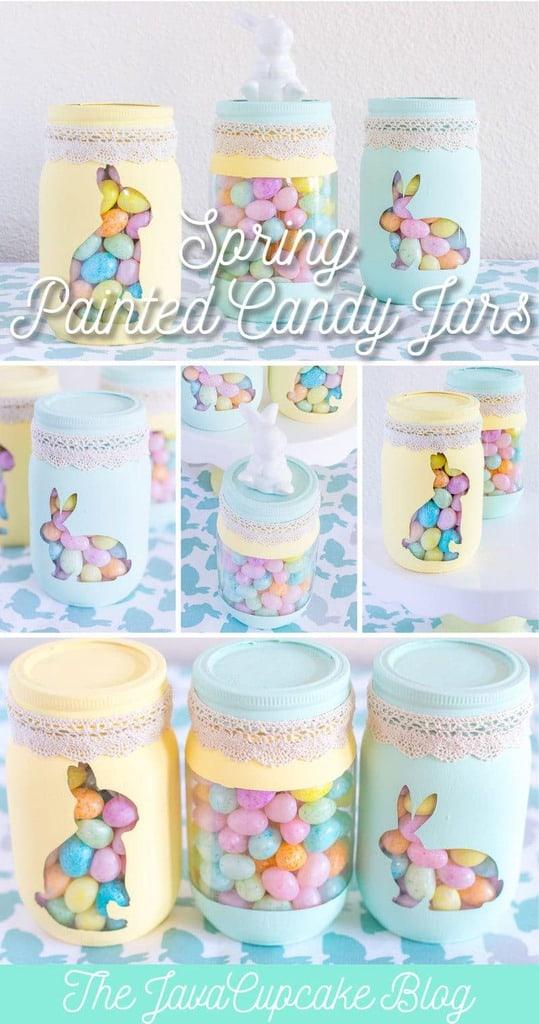 {DIY Tutorial} Spring Painted Candy Jars | The JavaCupcake Blog https://javacupcake.com
