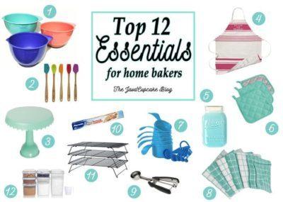 Top 12 Essentials for Home Bakers | The JavaCupcake Blog http://javacupcake.com