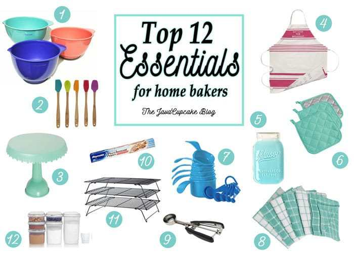 Top 12 Essentials for Home Bakers | The JavaCupcake Blog https://javacupcake.com