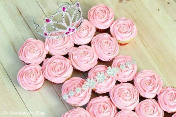 Princess Pull-Apart Cupcake Cake
