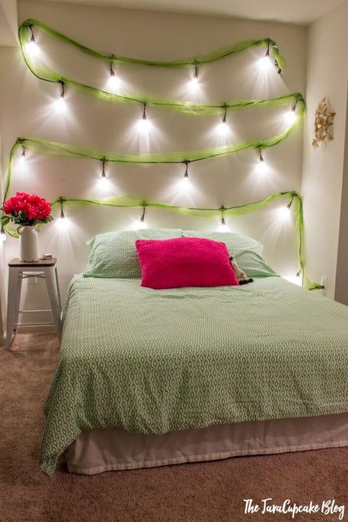 Teen Bedroom Makeover with Enbrighten Cafe Lights by Jasco | The JavaCupcake Blog https://javacupcake.com