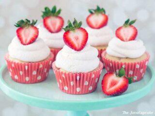 Strawberry Shortcake Cupcakes | The JavaCupcake Blog https://javacupcake.com